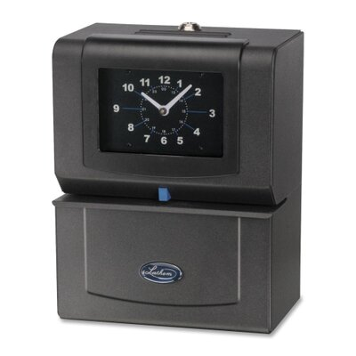 Lathem Time Company Automatic Time Clock, Day Of Week/Hours/Minutes, Charcoal
