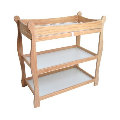 Sleigh Style Baby Changing Table Color: Natural