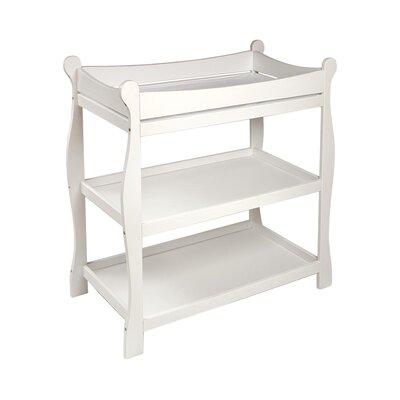 Sleigh Style Baby Changing Table Color: White