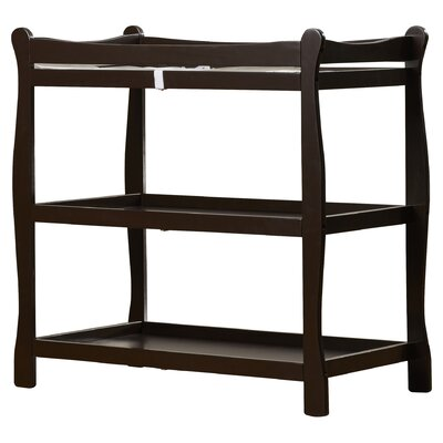 Sleigh Style Baby Changing Table Color: Espresso