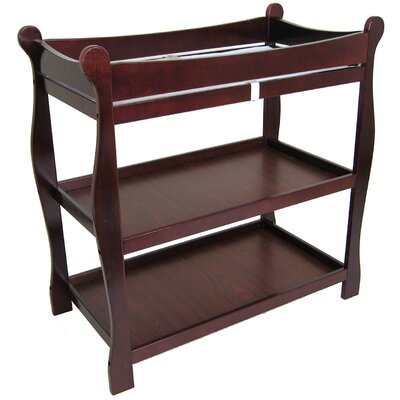 Sleigh Style Baby Changing Table Color: Cherry