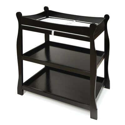 Sleigh Style Baby Changing Table Color: Black