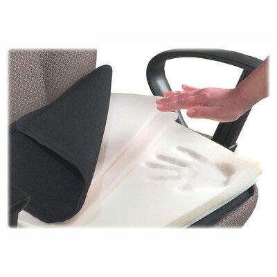 Seat/Back Cushion with Elastic Strap Finish: Black