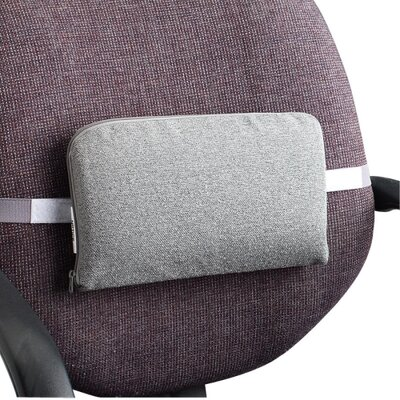 Lumbar Support Cushion with Elastic Strap Finish: Neutral Gray