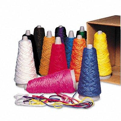 Pacon Corporation Trai-Tex Double Weight Yarn Cones, 2-oz., 12 Assorted Color Cones per Carton