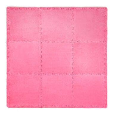 21 Piece Plush Playmat Set Color: Bright Pink