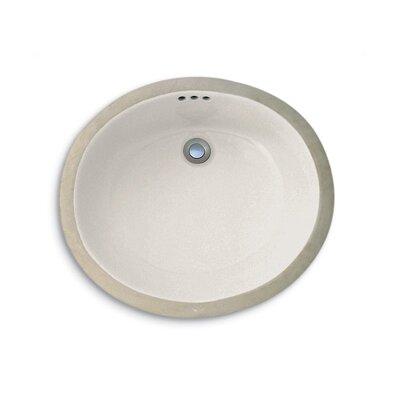 Custom Metal Oval Undermount Bathroom Sink Sink Finish: Biscuit Porcelain