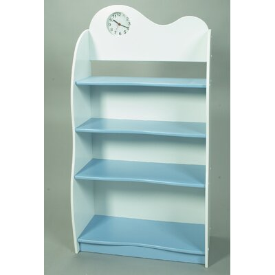 """Gift Mark 47"""" Bookcase with Clock"""