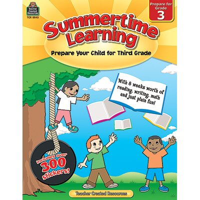 Teacher Created Resources Summertime Learning Grade 3 Book