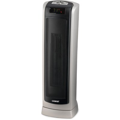 Ceramic 1,500 Watt Portable Electric Tower Heater with Thermostat