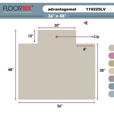 """Cleartex Advantagemat Low Pile Carpet Chair Mat Size: 48"""" W x 36"""" D"""