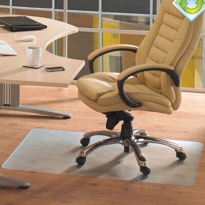 "Ecotex Anti-Slip Hard Floor Chair Mat Size: 48"" W x 36"" D"