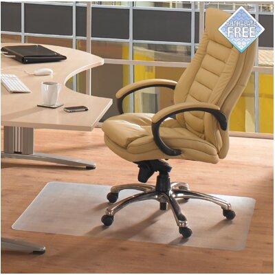 "Cleartex Advantagemat Phthalate Free PVC Chair Mat for Hard Floors Size: 60"" W x 48"" D"