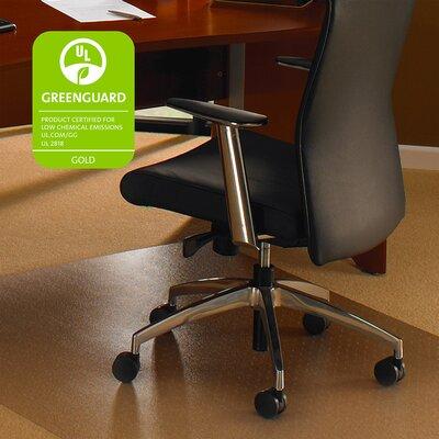 "Cleartex Ultimat Hard Floor Straight Edge Chair Mat Size: 60"" W x 118"" D"