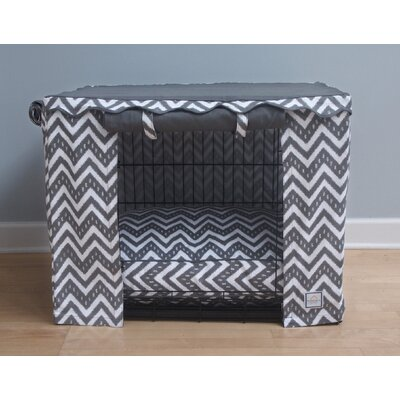 Fair Isle Dog Crate Cover Size: Large