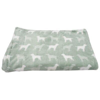 Dog Chevron Printed Flannel Fleece Pet Throw