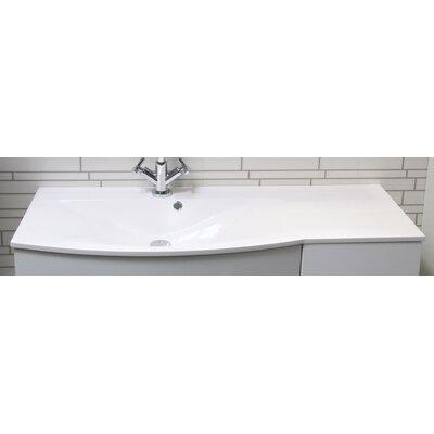 Fackelmann 110 cm Einbauwaschbecken