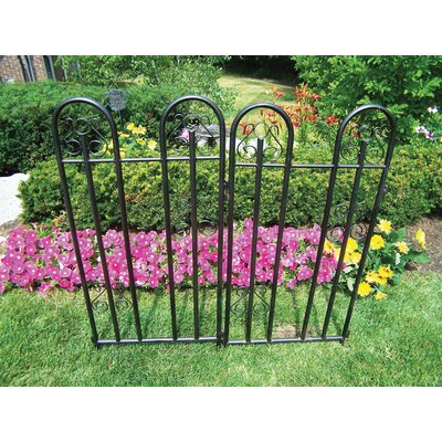 3.9 ft. x 3.8 ft. Garden Fence Two Pack