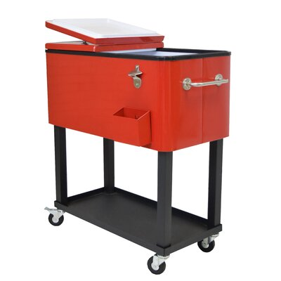 80 Qt. Oakland Patio Cooler Finish: Red