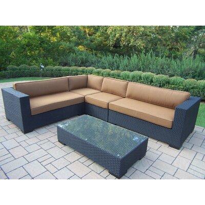 Bosch 5 Piece Rattan Sunbrella Sofa Set with Cushions