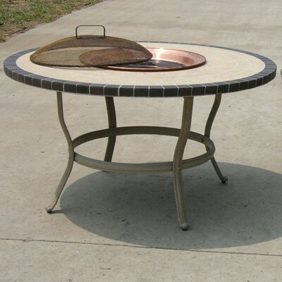 Stone Art Aluminum Wood Burning Fire Pit Table