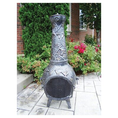 Oakland Living Leaf Cast Iron Wood Chiminea