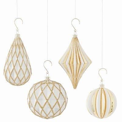 4 Piece Geometric Shaped Ornament Set