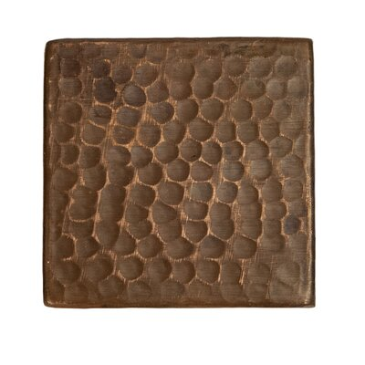 "3"" x 3"" Hammered Copper Tile in Oil Rubbed Bronze"