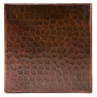 """6"""" x 6"""" Hammered Copper Tile in Oil Rubbed Bronze"""