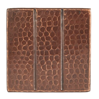 "4"" x 4"" Hammered Copper Tile in Oil Rubbed Bronze"