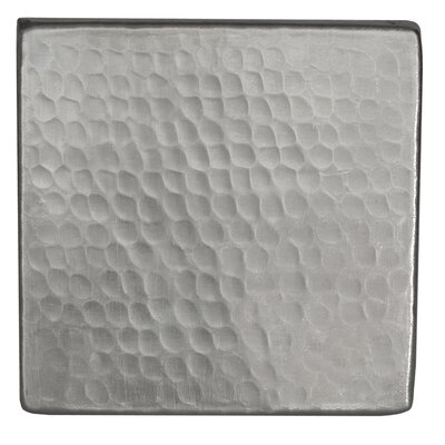 "4"" x 4"" Hammered Copper Tile in Nickel"