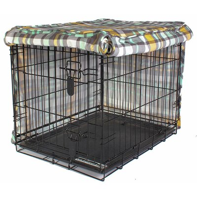 "Kurt Northwestern Girls Dog Crate Cover Size: 21"" H x 18"" W x 24"" D"