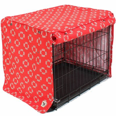 """Kurt Lady in Red Dog Crate Cover Size: 33"""" H x 30"""" W x 48"""" D"""