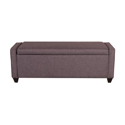 Upholstered Storage Bench Upholstery: Grey