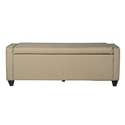 Upholstered Storage Bench Upholstery: Natural Linen