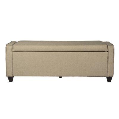 Upholstered Storage Bench Upholstery: Natural Linen