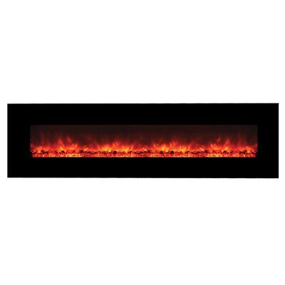 Yosemite Home Decor Contemporary Wide Glass Electric Fireplace