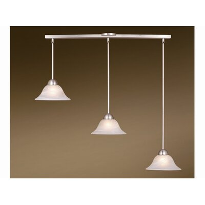 Engelbrecht 3-Light Kitchen Island Pendant Finish: Brushed Nickel