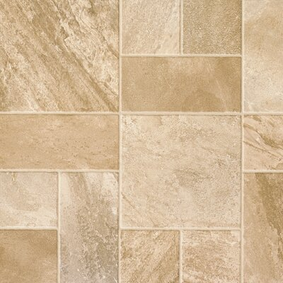 """Revolutions Tile 16"""" x 51"""" x 8mm Slate Laminate Flooring in Dusty Canyon"""