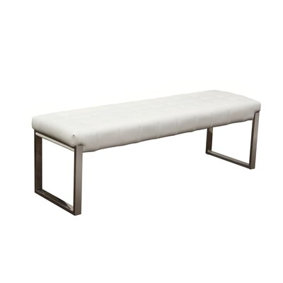 Knox Upholstered Bedroom Bench Color: White