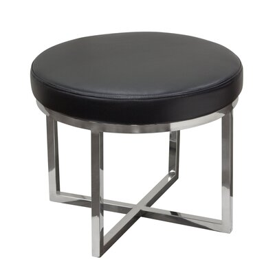 Ritz Round Accent Stool Color: Black