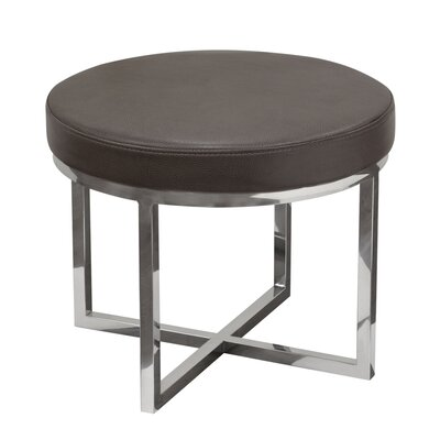 Ritz Round Accent Stool Color: Elephant Grey