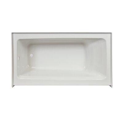 "Signature 60"" x 32"" Alcove Bathtub Finish: Oyster, Drain Location: Right, Additional Features: Skirted Whirlpool Bathtub"