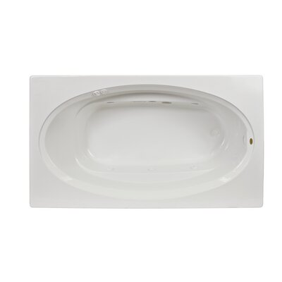 """Signature 60"""" x 36"""" Drop In Bathtub Finish: White, Drain Location: Right, Additional Features: Whirpool Bathtub with Heater"""