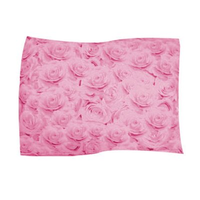 Pink Rose Pet Throw Size: X-Large