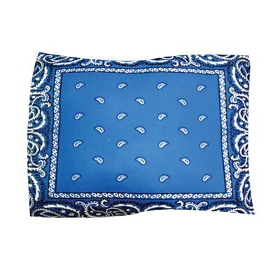 Bandana Pet Throw Size: X-Large, Color: Blue