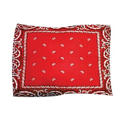 Bandana Pet Throw Size: Large, Color: Red