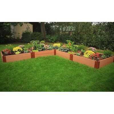 Classic Sienna L-Shaped 12 ft x 12 ft Composite Raised Garden