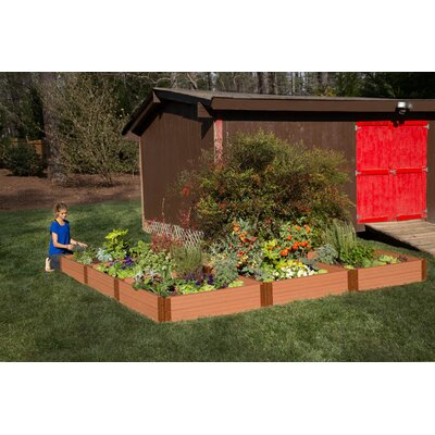 Classic Sienna 12 ft x 12 ft Composite Raised Garden