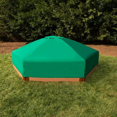Two Inch Series 7 ft. Hexagon Sandbox with Cover